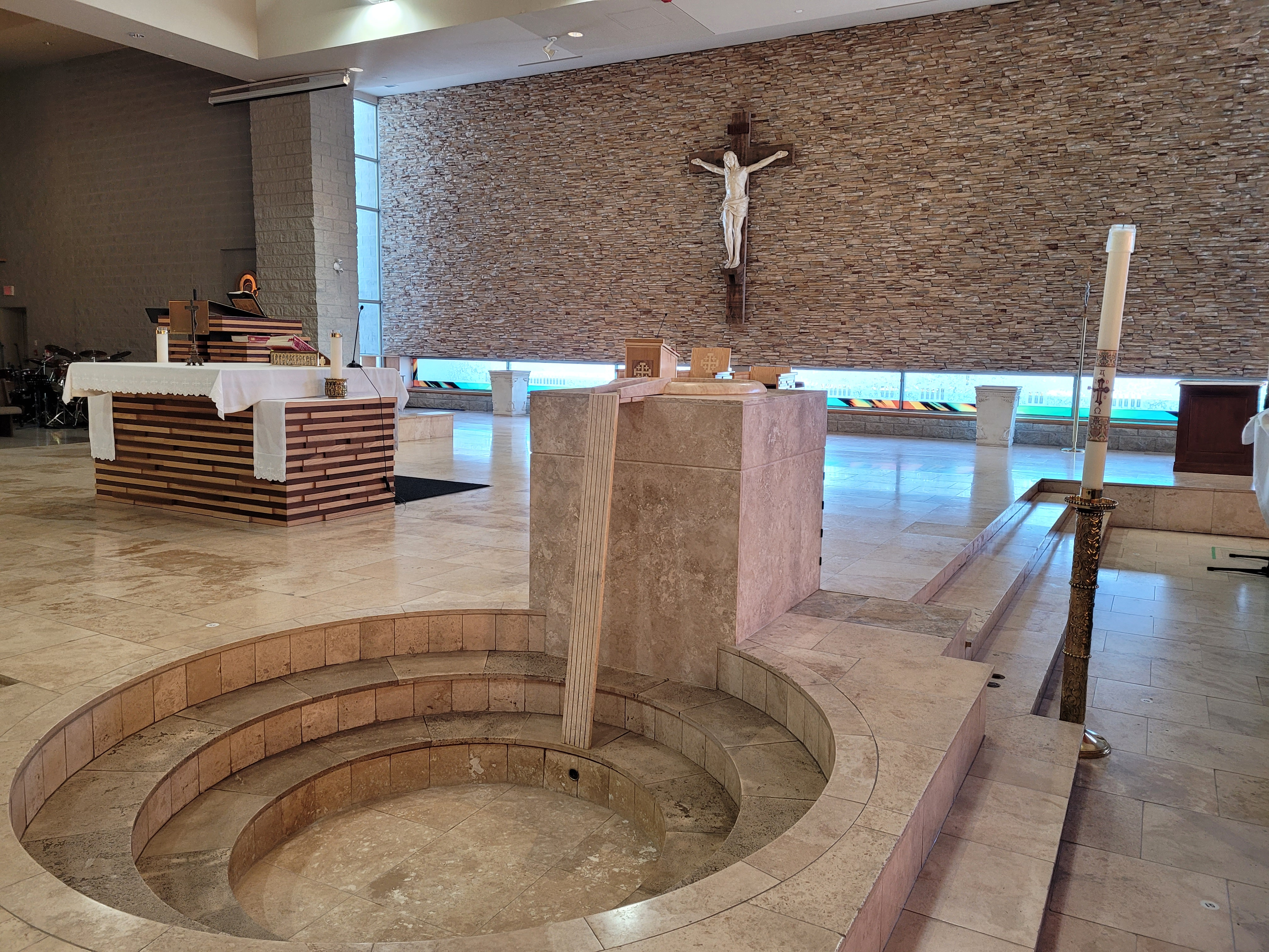 SMDY Baptismal Fount and Altar